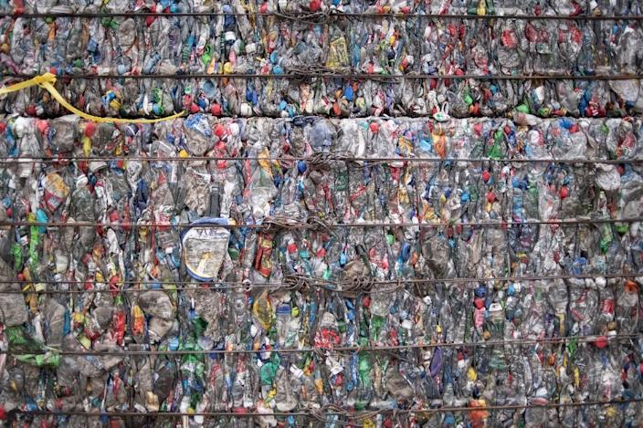 Plastic consumption -- and waste -- continues to balloon along with growing incomes and dependence on plastic products integral to almost every aspect of daily life (AFP Photo/Fred DUFOUR)