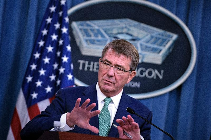 Pentagon chief Ashton Carter (AFP Photo/Brendan Smialowski)