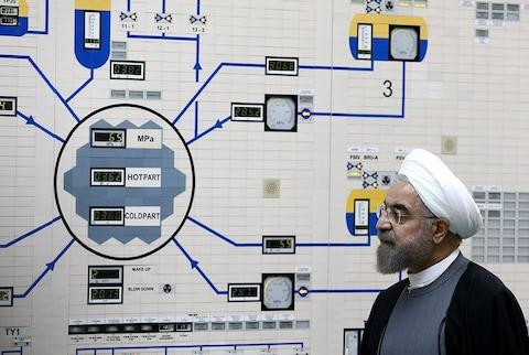 Hassan Rouhani made the threat in a cabinet meeting - Credit: IRANIAN PRESIDENCY OFFICE HANDOUt/EPA-EFE/REX