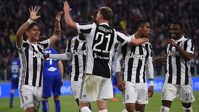Douglas Costa played a starring role with three assists as Juventus responded to Champions League disappointment in style.
