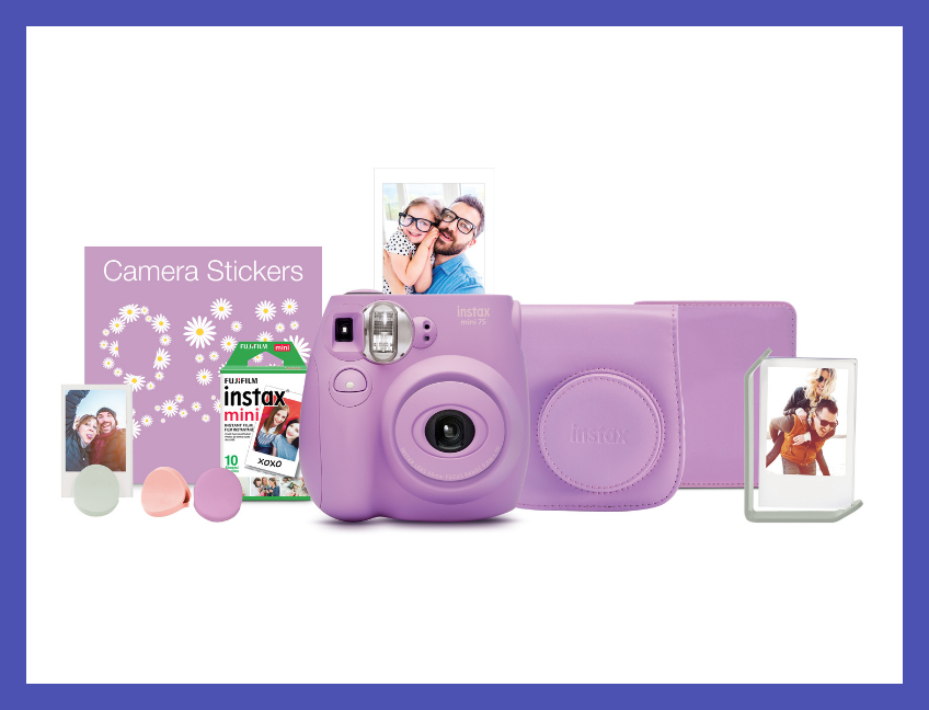 Fujifilm Instax Mini 7s Lavender Bundle. (Photo: Walmart)