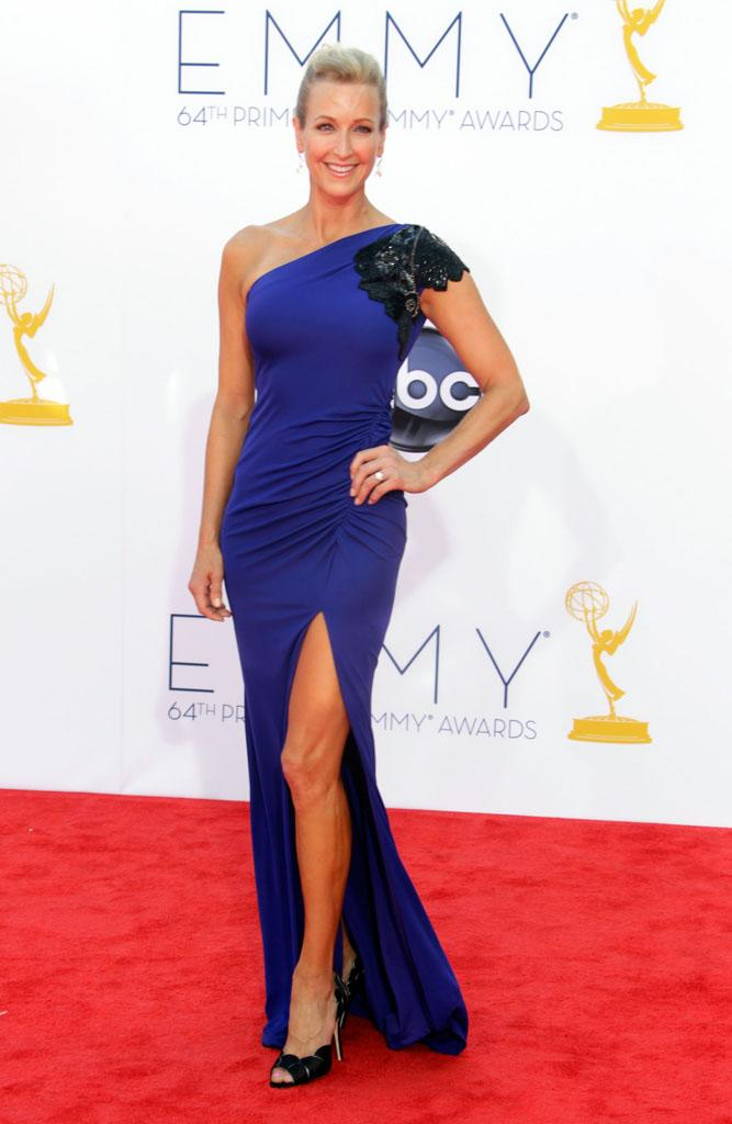 Lara Spencer arrives at the 64th Primetime Emmy Awards at the Nokia Theatre in Los Angeles on September 23, 2012.