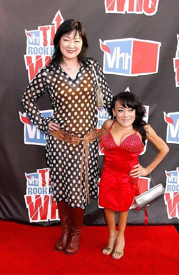 "Funnywoman Margaret Cho and her pal, actress Selene Luna, popped poses in their questionable outfits. Jeffrey Mayer/<a href=""http://www.wireimage.com"" target=""new"">WireImage.com</a> - July 12, 2008"