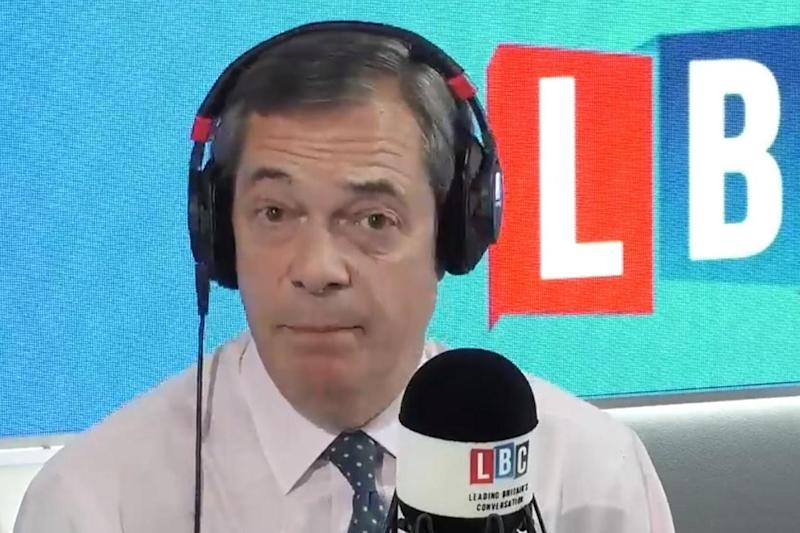 Nigel Farage announced he was quitting Ukip on his LBC show on Tuesday (LBC)
