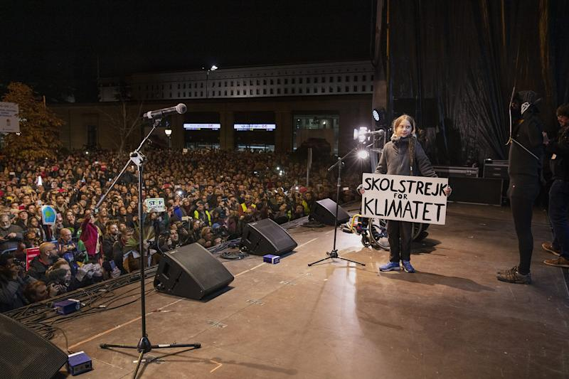 On Dec. 6, tens of thousands of people flooded Madrid to join Thunberg's call for global action on climate change | Evgenia Arbugaeva for TIME