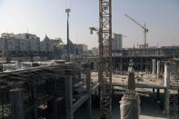 A general view picture shows the Sahn al-Aqila project, a vast expansion to the area adjacent to the Imam Hussein shrine that will be used to welcome mostly Shi'ite Muslim pilgrims in Kerbala