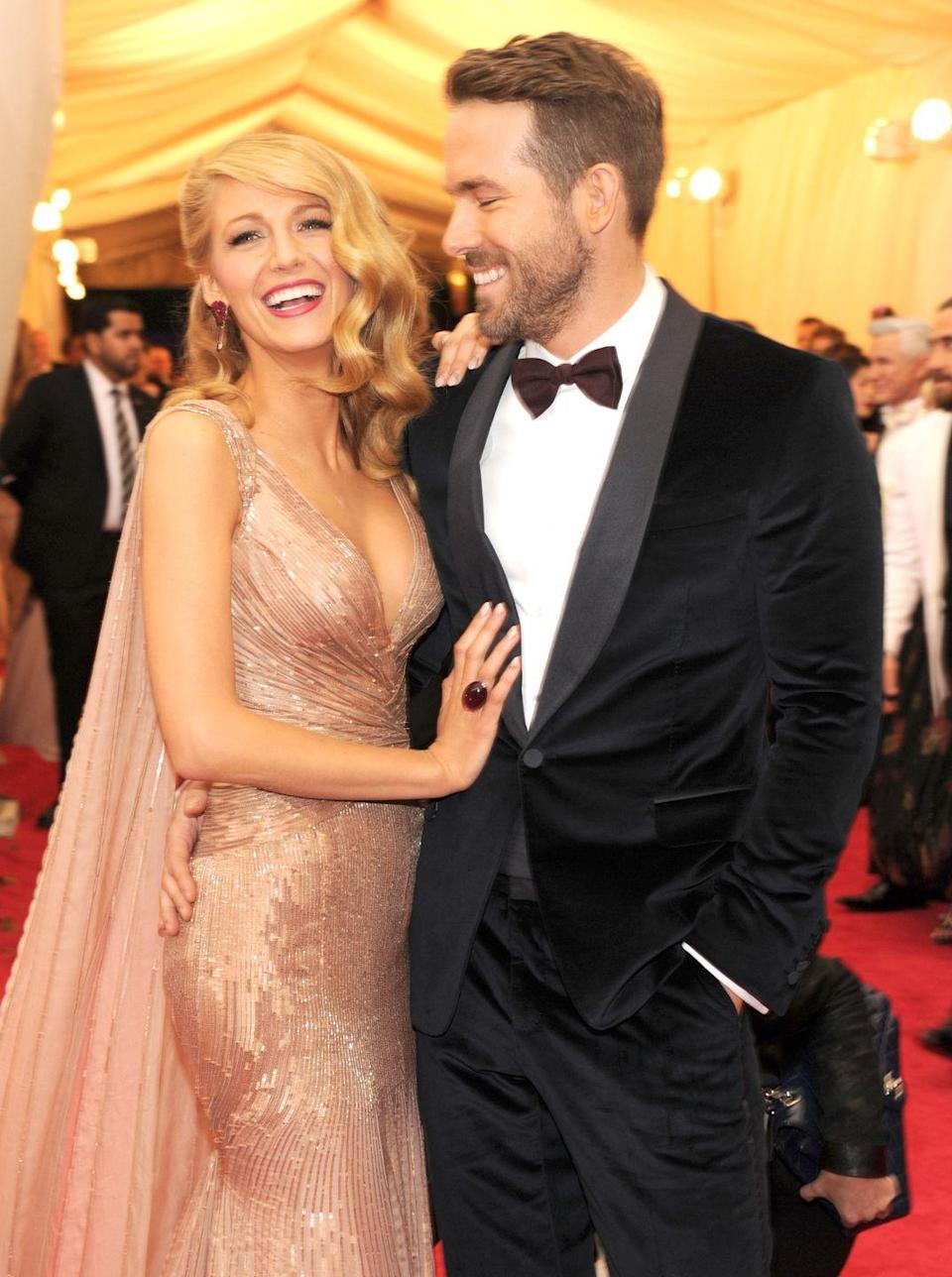 "<p>After meeting on the set of <em>Green Lantern</em> early in 2010, when Lively was just 22 years old and Reynolds was 33, the two started dating in 2011 and were married in September of 2012. Today, the adorable A-listers are proud parents to three daughters, after <a href=""https://www.harpersbazaar.com/celebrity/latest/a30911462/blake-lively-motherhood-obsessed/"" rel=""nofollow noopener"" target=""_blank"" data-ylk=""slk:welcoming their third child"" class=""link rapid-noclick-resp"">welcoming their third child</a> in August, and appear on every red carpet <a href=""https://www.harpersbazaar.com/celebrity/latest/a18542016/blake-lively-and-ryan-reynolds-body-language/"" rel=""nofollow noopener"" target=""_blank"" data-ylk=""slk:affectionately arm-in-arm"" class=""link rapid-noclick-resp"">affectionately arm-in-arm</a>.</p>"
