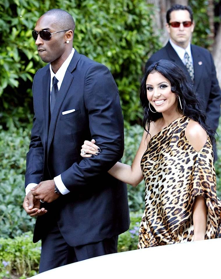 "Odom's Lakers teammate Kobe Bryant is always there for him on the court, so of course Bryant -- along with his wife, Vanessa -- was there for him on his big day too. Jean Baptiste Lacroix/<a href=""http://www.wireimage.com"" target=""new"">WireImage.com</a> - September 27, 2009"