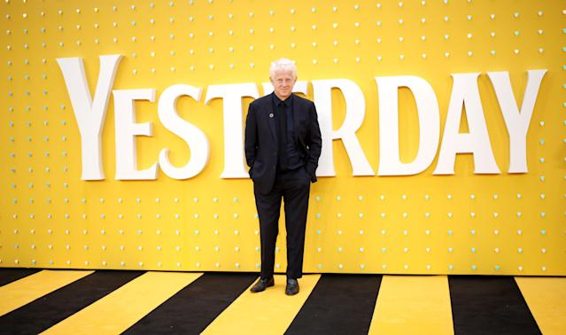 """LONDON, ENGLAND - JUNE 18: Richard Curtis attends the UK Premiere of """"Yesterday"""" at Odeon Luxe Leicester Square on June 18, 2019 in London, England. (Photo by Mike Marsland/WireImage)"""
