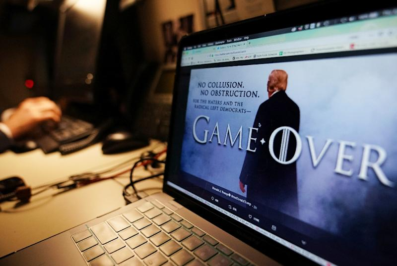 "US President Donald Trump once again used ""Game of Thrones"" imagery in his PR messaging -- and HBO didn't like it (AFP Photo/MANDEL NGAN)"