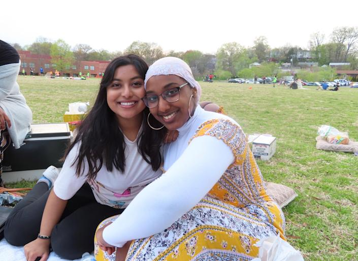 Virginia high school seniors Sithiya Reshmee and Farah Bahr started making and selling candy after their parents lost their jobs during the pandemic. / Credit: Handout