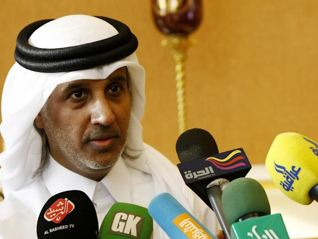 "Qatar's Football Association Head Sheikh Hamad bin Khalifa bin Ahmed al-Thani says the Gulf country is ""ready to offer any help"" in hosting the African Cup of Nations (AFP Photo/Safin Hamed)"
