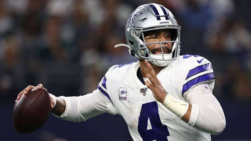 Cowboys snap losing streak in dominant win over Eagles