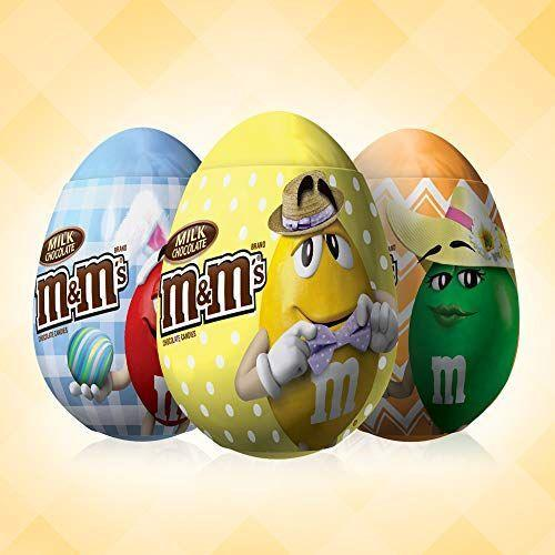 """<p><strong>M&M'S</strong></p><p>amazon.com</p><p><strong>$11.95</strong></p><p><a href=""""https://www.amazon.com/dp/B016F29QWE?tag=syn-yahoo-20&ascsubtag=%5Bartid%7C10070.g.2201%5Bsrc%7Cyahoo-us"""" rel=""""nofollow noopener"""" target=""""_blank"""" data-ylk=""""slk:Shop Now"""" class=""""link rapid-noclick-resp"""">Shop Now</a></p><p>M&M's are delicious any time of year, but these little colorful eggs filled with them are sure to be a massive hit this Easter.</p>"""