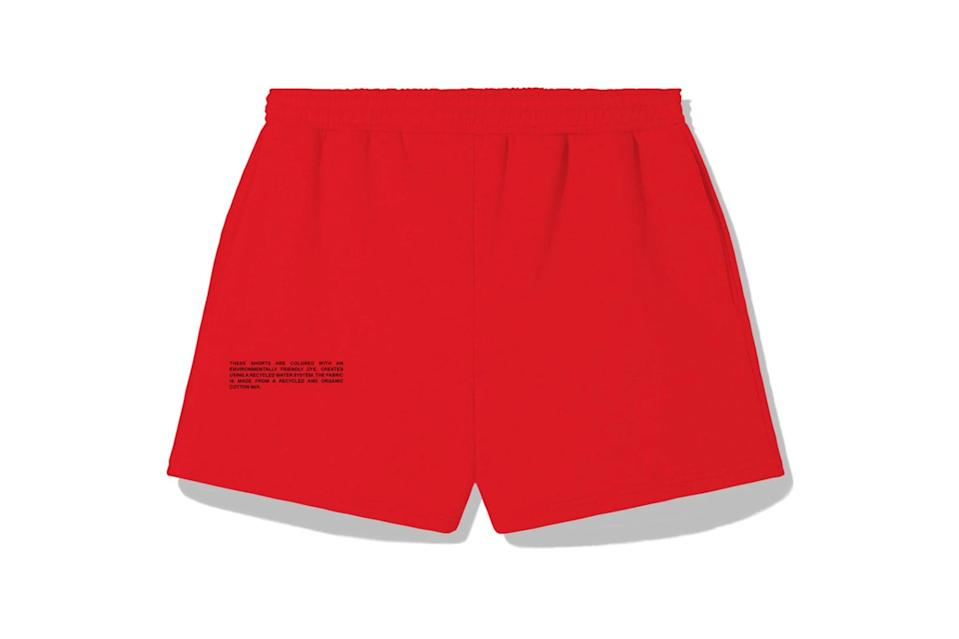 "$80, Pangaia. <a href=""https://thepangaia.com/collections/women-shorts/products/lightweight-recycled-cotton-shorts-poppy"" rel=""nofollow noopener"" target=""_blank"" data-ylk=""slk:Get it now!"" class=""link rapid-noclick-resp"">Get it now!</a>"