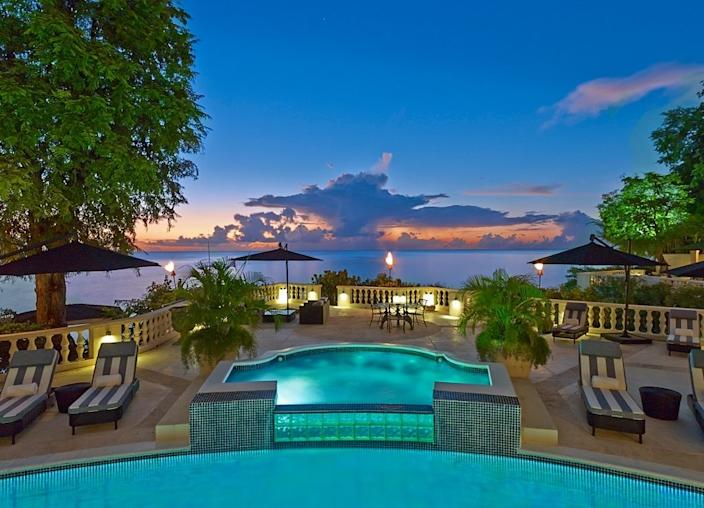 You'll feel as if you're at a resort in the private home, which comes with a staff of 19.