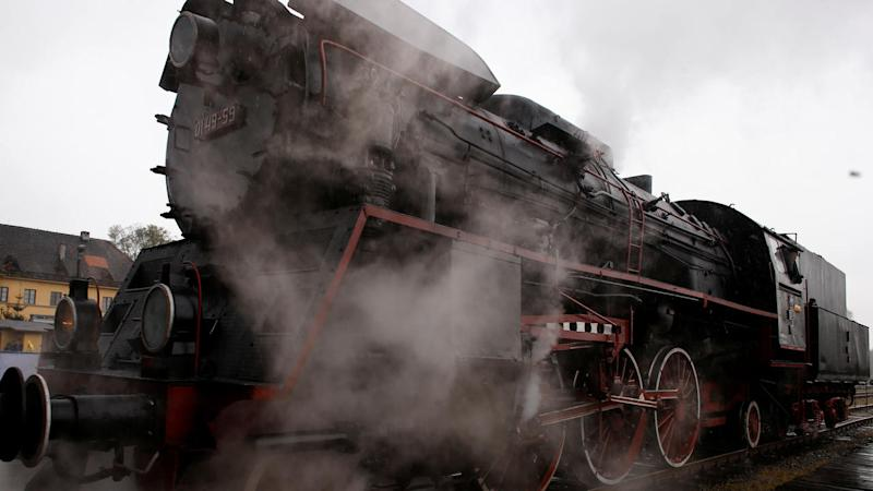 Steam engine rides during the 24th Steam Engine Parade in Wolsztyn, Poland April 29, 2017. REUTERS/Kacper Pempel - RC1EDEABD8A0