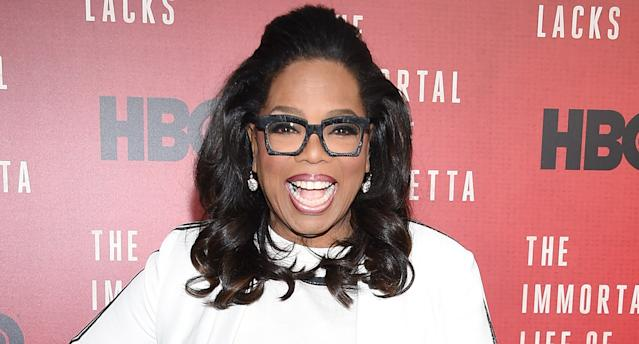Oprah Winfrey attends <em>The Immortal Life of Henrietta Lacks</em> premiere on April 18 in New York City. (Photo: Dimitrios Kambouris/Getty Images)