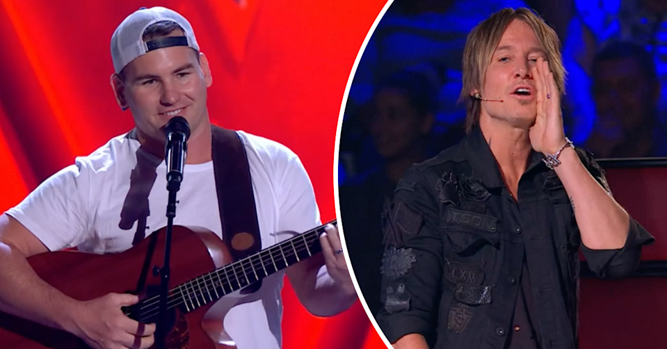 The Voice's Angus Milne and Keith Urban.