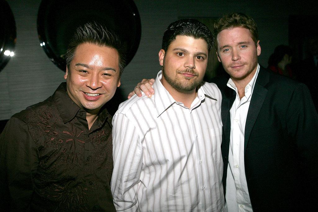 """Rex Lee hangs out with his """"Entourage"""" co-stars Jerry Ferrara and Kevin Connolly. Rex is openly gay just like his """"Entourage"""" character Lloyd. Michael Bezjian/<a href=""""http://www.wireimage.com"""" target=""""new"""">WireImage.com</a> - May 15, 2007"""
