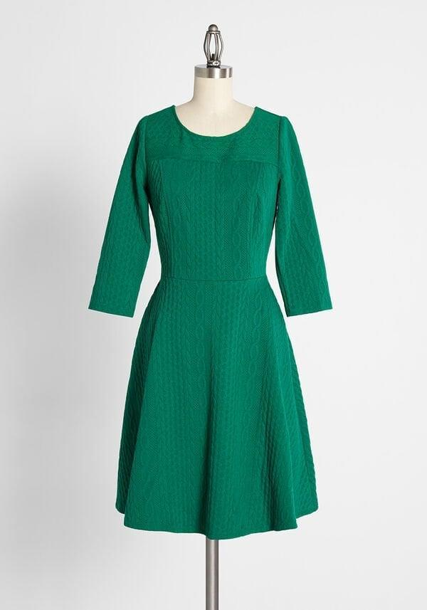 <p><span>ModCloth Knits Beginning to Look A Lot Like Christmas Dress</span> ($69)</p>