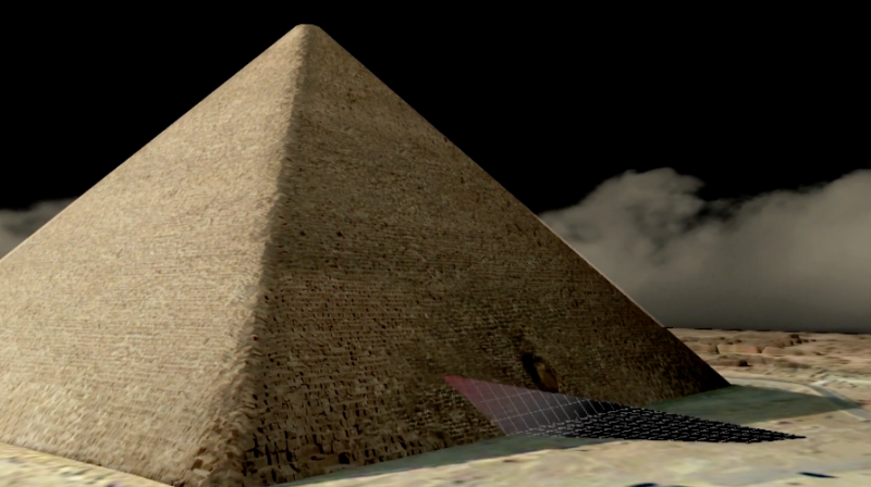 <strong>3D scans with lasers and drones were also used as part of the investigation</strong> (Scan Pyramids Mission)