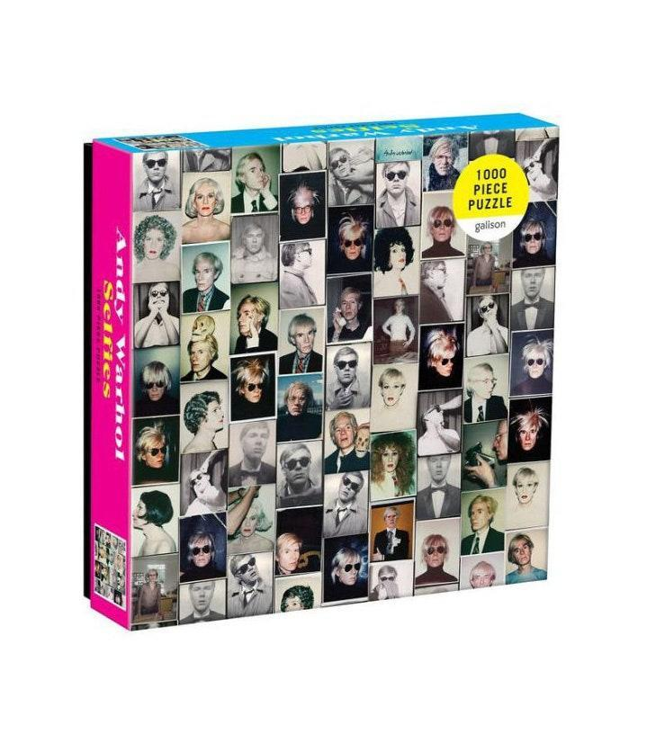 "Vaccines may be phasing out quarantine, but it's worth keeping a jigsaw puzzle around for long-awaited family reunions—and this one is actually <em>cool</em>. $17, Amazon. <a href=""https://www.amazon.com/Galison-Warhol-Selfies-Puzzle-Pieces/dp/0735363129"" rel=""nofollow noopener"" target=""_blank"" data-ylk=""slk:Get it now!"" class=""link rapid-noclick-resp"">Get it now!</a>"