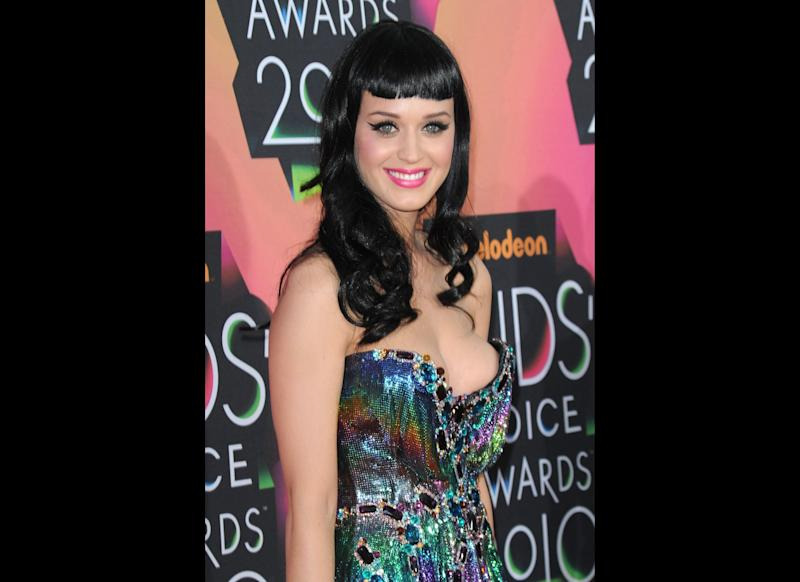 Singer Katy Perry arrives at Nickelodeon's 23rd Annual Kids' Choice Awards held at UCLA's Pauley Pavilion on March 27, 2010 in Los Angeles, California. (Photo by Jason Merritt/Getty Images)