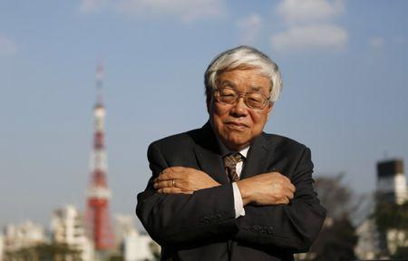 Koichi Hamada, an economic adviser to Japan's Prime Minister Shinzo Abe, poses after an interview in Tokyo
