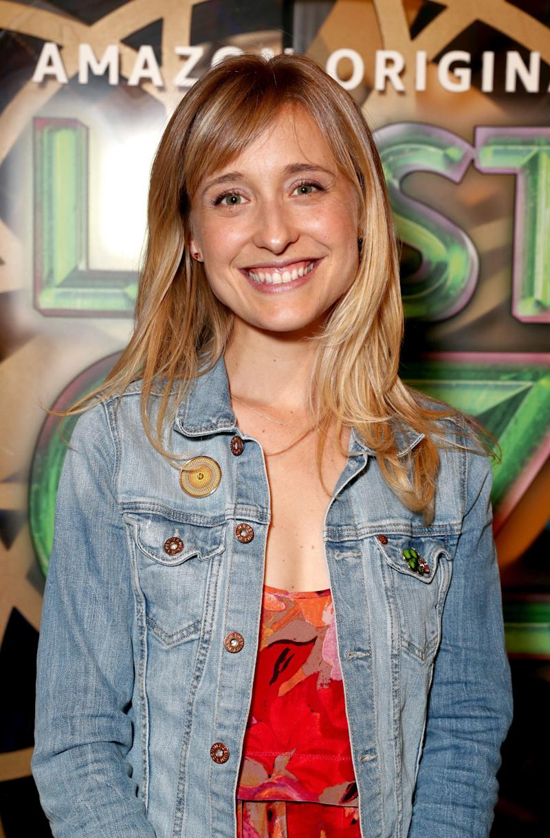 Allison Mack at an Amazon Studios premiere event in Hollywood on Aug. 1, 2017.