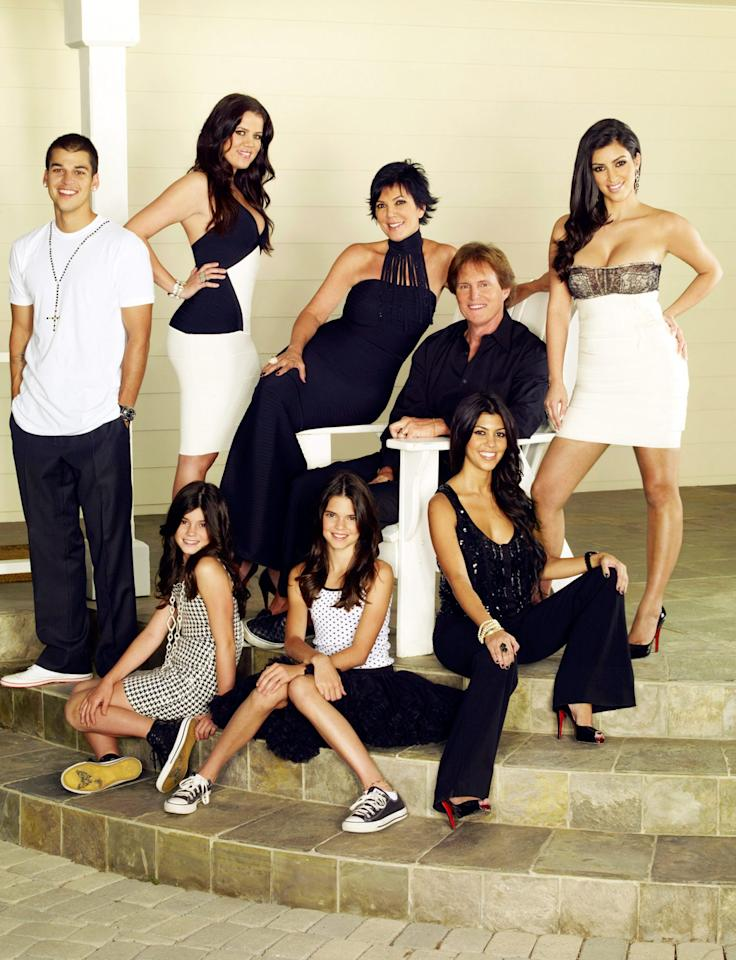<p>The blended family was composed of momager Kris Jenner and her then-spouse Caitlyn Jenner, Kourtney, Kim, Khloé and Rob Kardashian, and Kendall and Kylie Jenner.</p>