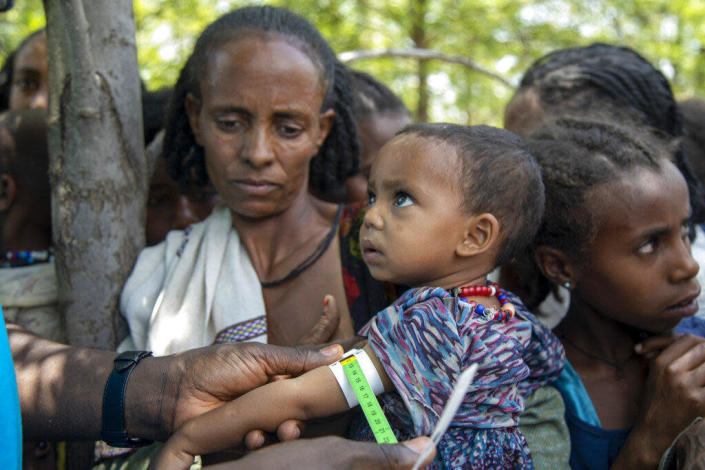 A Joint UN and INGOs team carries out a rapid response mechanism in response to the humanitarian needs of communities affected by the ongoing conflict in Ethiopia's Tigray region, July 19, 2021. / Credit: UNICEF via AP