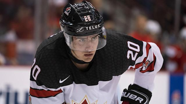 After getting passed over in the last two drafts, forward Brett Leason developed into a player with high potential, but he fell to the Caps in the second round at 56th overall.