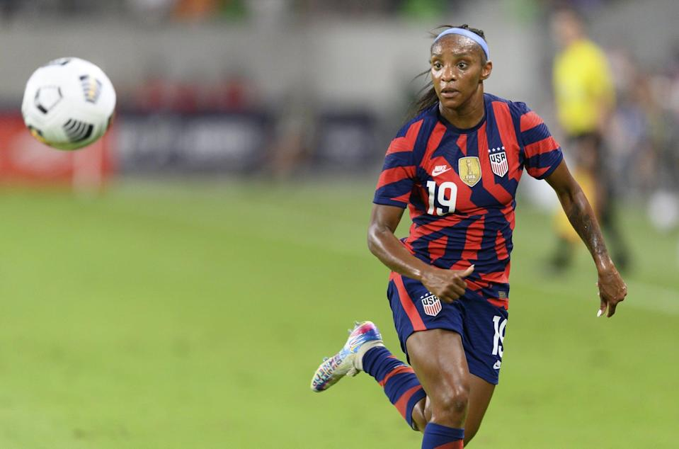 <p><strong>Position:</strong> defender</p> <p><strong>Hometown:</strong> Rockville Centre, NY</p> <p><strong>Club:</strong> Portland Thorns FC</p> <p><strong>Olympic appearances: </strong>Rio 2016</p> <p>To this day, Dunn remains the youngest player (age 23) to be named the NWSL's Most Valuable Player, and in 2016, she tied a USWNT record, scoring five goals in a single match at the CONCACAF Women's Olympic Qualifying Tournament. She'll be striving for her first Olympic medal this summer.</p>