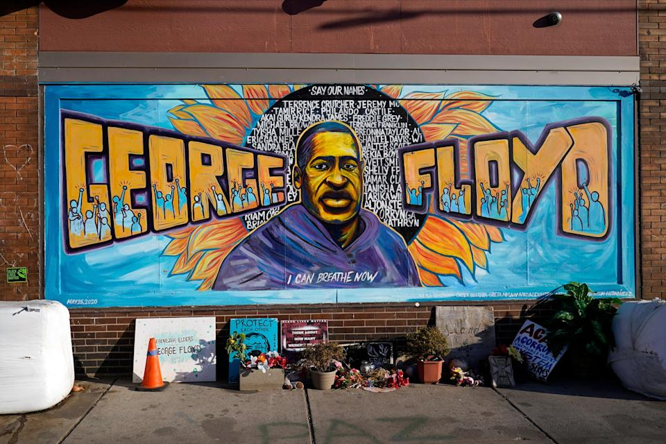 Juicio oficial de George Floyd Floyd Square (Copyright 2021 The Associated Press. All rights reserved)