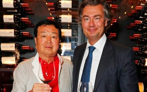 Wentworth owner Chanchai Ruayrungruang (L) and Laurent Feniou attend the launch of Ten Trinity Square Private Club in London - Credit: Dave Benett/Getty Images for Ten Trinity Square Private Club