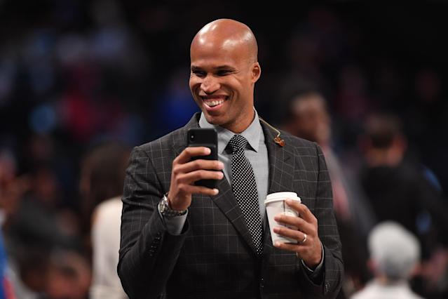 Richard Jefferson is fitting in just fine as a broadcaster. (Photo by Matteo Marchi/Getty Images)