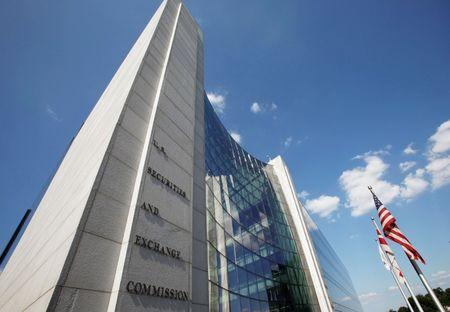 FILE PHOTO: The headquarters of the U.S. Securities and Exchange Commission seen in Washington