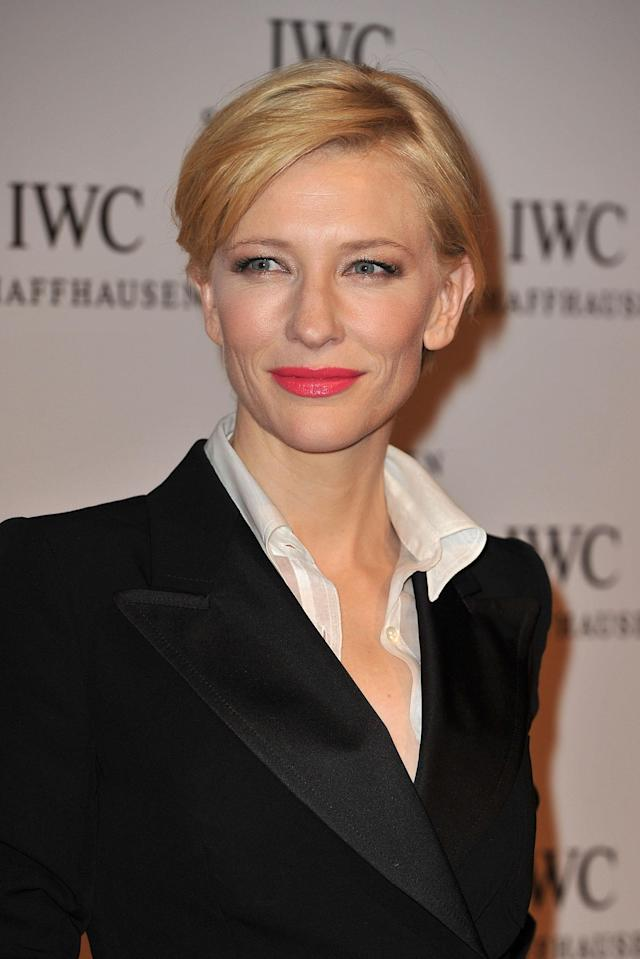 <p>Cate Blanchett attends IWC Schaffhausen: an evening in Portofino at Palexpo Hall 1 on January 18, 2011, in Geneva, Switzerland. (Photo: Getty Images) </p>