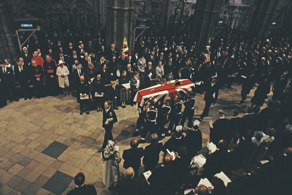 The funeral of Lord Mountbatten, 5 September 1979Photo by Keystone/Hulton Archive/Getty Images