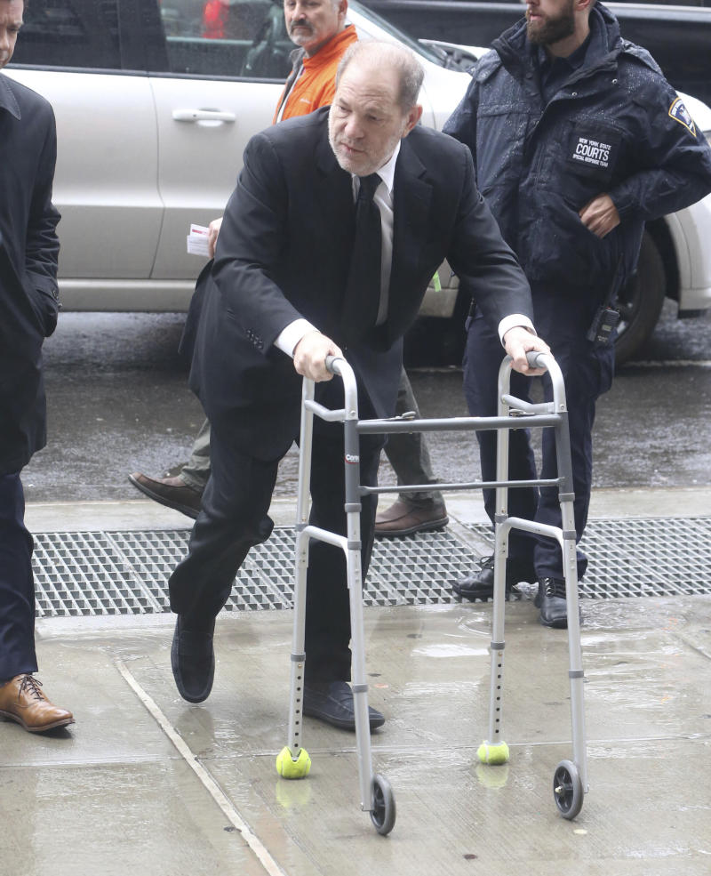 Photo by: KGC-146/STAR MAX/IPx 2020 3/22/20 Harvey Weinstein has tested posiitive for Coronavirus. STAR MAX File Photo: 1/16/20 Harvey Weinstein arrives at his sexual assault trial in New York City.