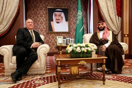 Pompeo in Saudi Arabia amid heightened tensions with Iran
