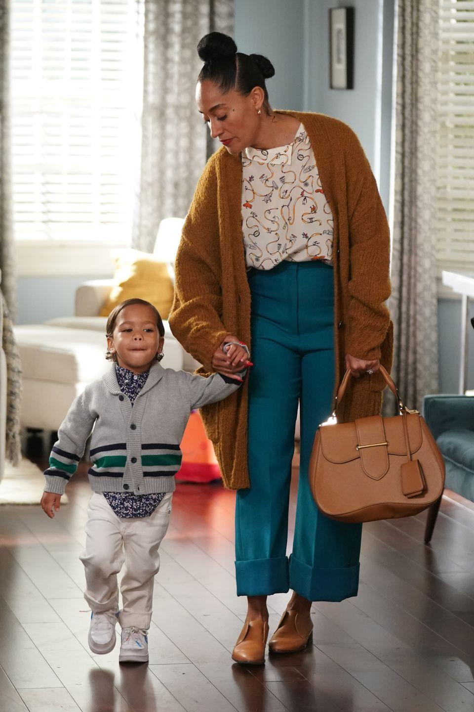 <p>Tracee Ellis Ross has been showing up for Black girls everywhere since the early 2000s. In the show <em>Girlfriends, </em>she played a lawyer and showed us that natural hair belongs in the workplace. Currently, she plays a mom of five on the ABC show <em>Black-ish, </em>where we see the in and outs of taking care of Black hair. From wash-day to at-home styling, this show relates to Black women everywhere. </p>