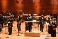 Friday's concert by the New York Philharmonic was a 'homecoming' for musicians limited to live streams, one-off and outdoor shows for more than a year (AFP/KENA BETANCUR)