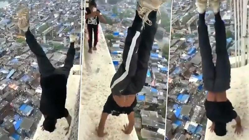 Mumbai Man, Seen Performing Handstand on High-Rise Building in Viral Video, Arrested by Police