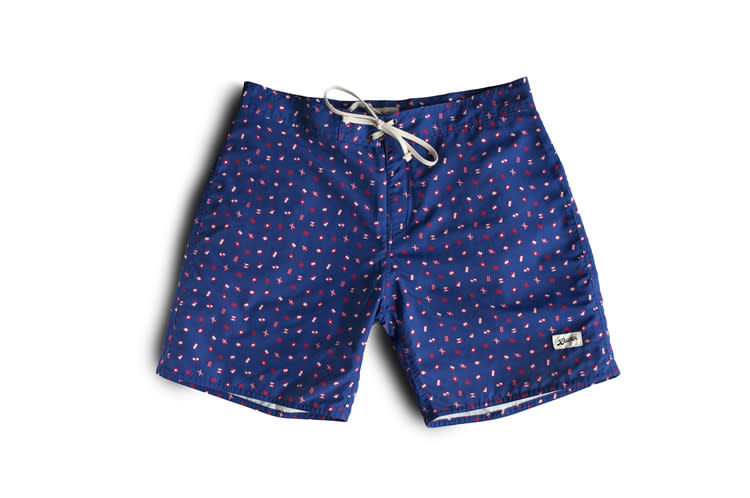 "<p>Forget nautical stripes, these surf shorts from Canadian swimwear brand Bather Trunk Co. feature nautical flags, which are both stylish and informative. <i>($85 <a href=""http://bathertrunkcompany.com/shop/nauticalflag"" rel=""nofollow noopener"" target=""_blank"" data-ylk=""slk:via Bather Trunk Co."" class=""link rapid-noclick-resp"">via Bather Trunk Co.</a>)</i></p>"
