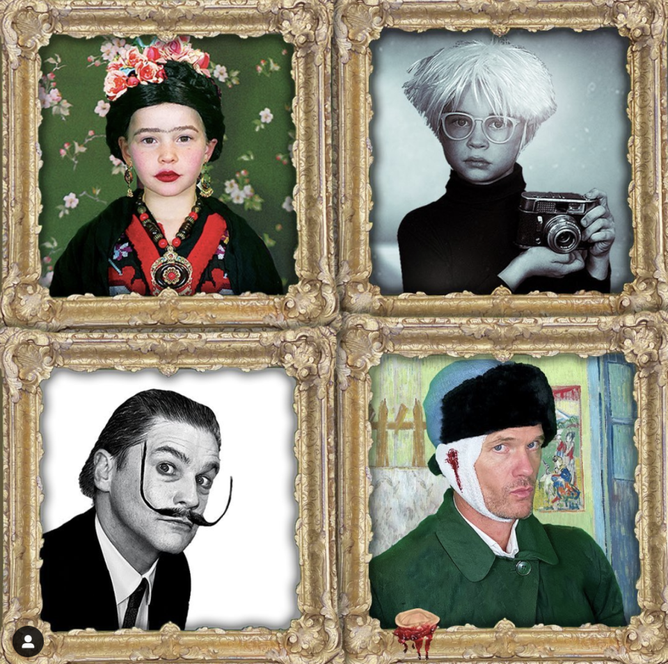 <p>As artists Vincent Van Gogh, Salvador Dali, Frida Kahlo, and Andy Warhol.</p>