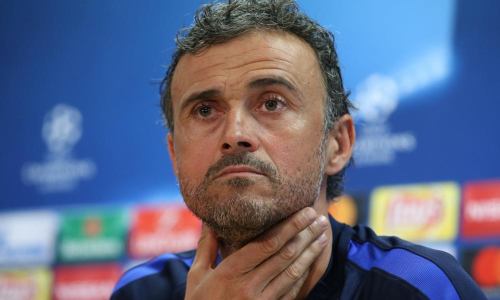 Barcelona's coach, Luis Enrique, shares his thoughts before the Champions League quarter-final second leg against Juventus.