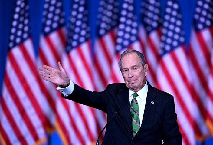 Michael Bloomberg, who pledged to help felons in Florida pay fees (AFP via Getty Images)