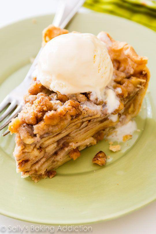 """<p>Apple pie is a fall favorite, but with delicious walnut crumble on top, things are looking up.</p><p><strong>Get the recipe at <a rel=""""nofollow noopener"""" href=""""http://sallysbakingaddiction.com/2015/07/04/apple-crumble-pie/"""" target=""""_blank"""" data-ylk=""""slk:Sally's Baking Addiction"""" class=""""link rapid-noclick-resp"""">Sally's Baking Addiction</a>.</strong></p>"""